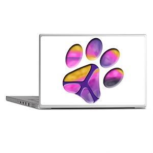 Peaceful Paw Print Laptop Skins