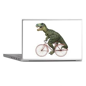 Cycling Tyrannosaurus Rex Laptop Skins