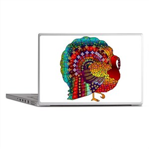 Thanksgiving Jeweled Turkey Laptop Skins