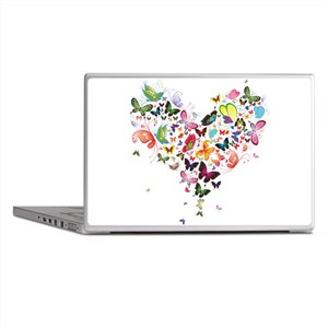 Heart of Butterflies Laptop Skins