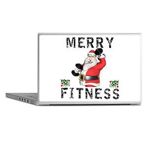 Merry Fitness Santa Laptop Skins