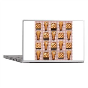 gingham chicken waffles Laptop Skins