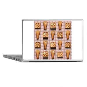 gingham chicken waffles Laptop Skins