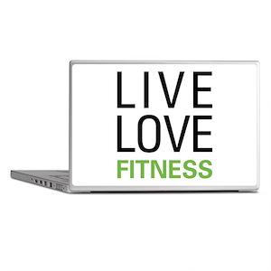 Live Love Fitness Laptop Skins
