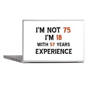 75 year old designs Laptop Skins