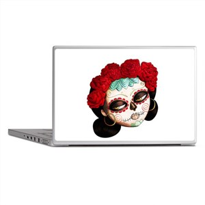 El Dia de Los Muertos Girl Laptop Skins