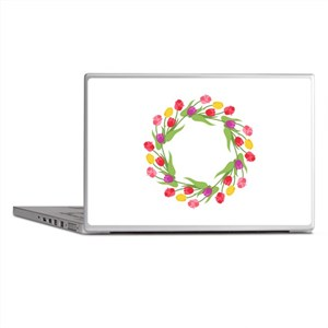 Tulips Wreath Laptop Skins
