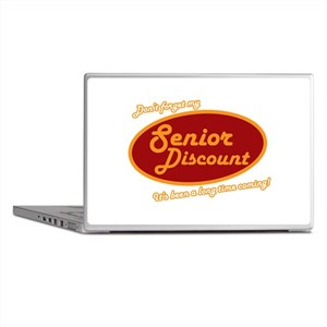 Dont forget my senior discount Laptop Skins