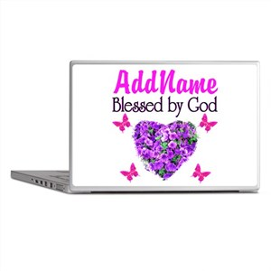 BLESSED BY GOD Laptop Skins