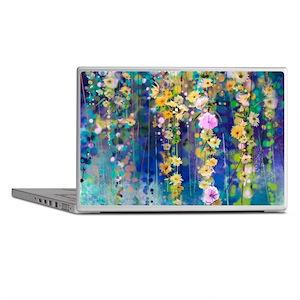 Floral Painting Laptop Skins