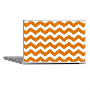 Burnt Orange Chevron Pattern Laptop Skins