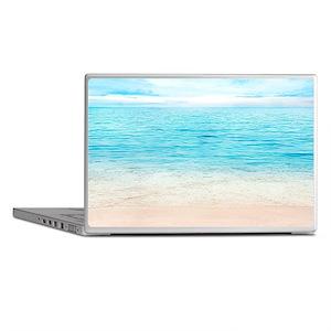 White Sand Beach Laptop Skins