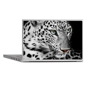White Leopard Laptop Skins