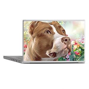 Pit Bull Painting Laptop Skins