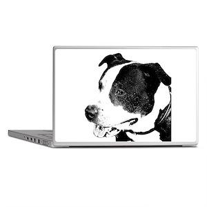 american staffordshire terrier art Laptop Skins