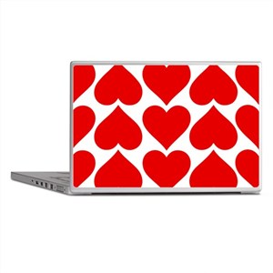 Red Hearts Pattern Laptop Skins