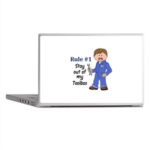 STAY OUT OF MY TOOLBOX Laptop Skins