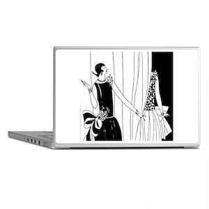 1920s vintage flappers black white dr Laptop Skins