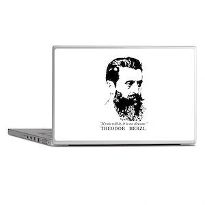 Theodor Herzl - Israel Quote Laptop Skins