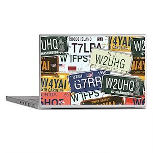 Vintage License Plates Laptop Skins