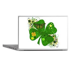 Fancy Irish 4 leaf Clover Laptop Skins