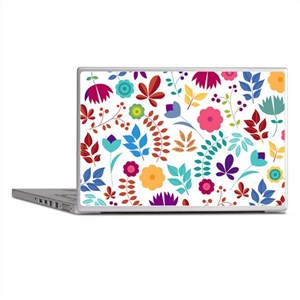 Cute Whimsical Floral Boho Chic Laptop Skins
