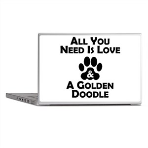 Love And A Goldendoodle Laptop Skins
