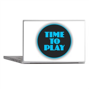 Time to Play - Blue Laptop Skins