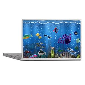 Underwater Love Laptop Skins