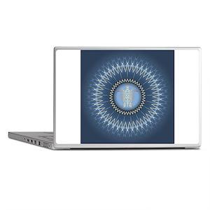 Gold Turtle Dark Blue Mandala Laptop Skins