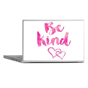 Be Kind Watercolor Inspirational Quot Laptop Skins