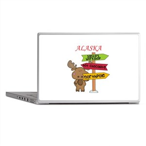 Alaska Moose What Way To The North Po Laptop Skins