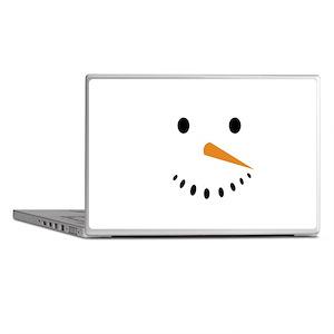 Snowman's Face Laptop Skins