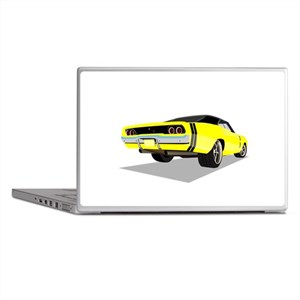 1968 Charger in Yellow with Black Top Laptop Skins