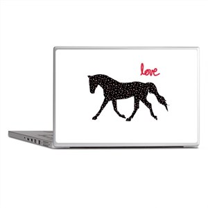 Horse with Hearts Laptop Skins