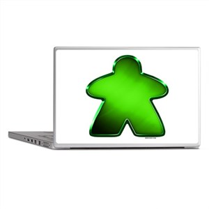 Metallic Meeple - Green Laptop Skins