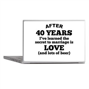 40 Years Of Love And Beer Laptop Skins