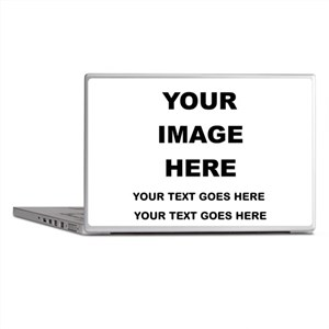 Your Photo and Text Here T Shirt Laptop Skins
