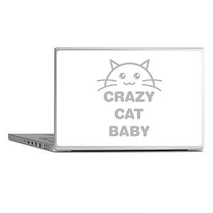 Crazy Cat Baby Laptop Skins