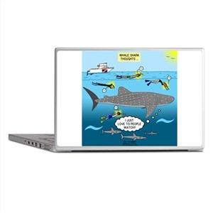Whale Shark Thoughts Laptop Skins