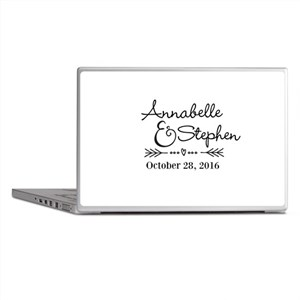 Couples Names Wedding Personalized Laptop Skins