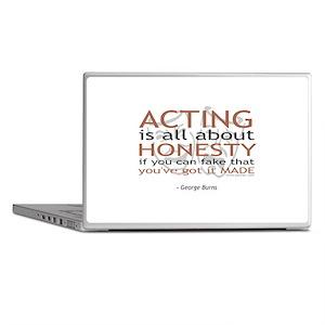 George Burns Acting Quote Laptop Skins
