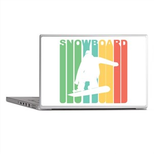Retro Snowboard Laptop Skins