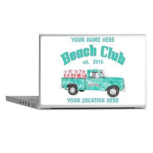 Flamingo Beach Club Laptop Skins