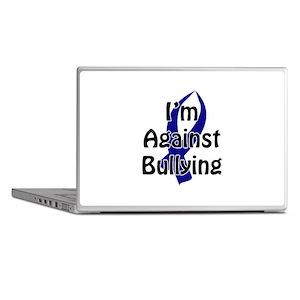 Anti-Bullying Blue Ribbon Laptop Skins