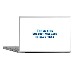 Three Line Blue Custom Message Laptop Skins