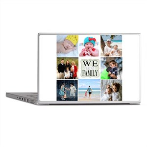Custom Family Photo Collage Laptop Skins