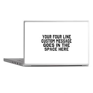 Customize Four Line Text Laptop Skins