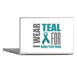Teal Awareness Ribbon Customized Laptop Skins
