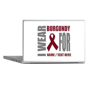 Burgundy Awareness Ribbon Customized Laptop Skins